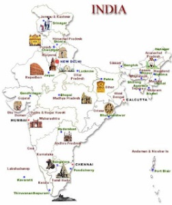 Must Visit Destinations India Map