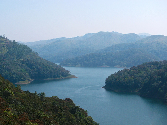Idukki River and Mountains