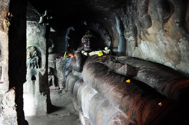 Lord Vishnu Statue, Undavalli Cave, Vijayawada