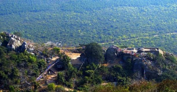 Vulture's peak mountain view, Rajgir