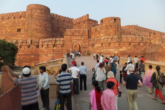 red fort agra, image by Andrew Smith