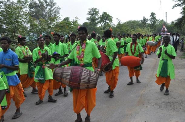 Devotees Performing Songs In Jagannath Rath Yatra Ceremony