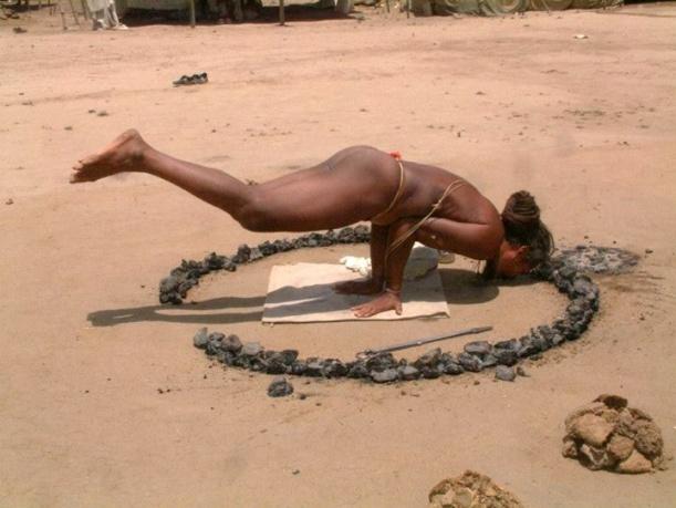 Sadhu-performing-Yoga-during-in-Ujjain-Kumbh-Mela